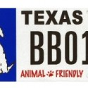 Animal Friendly Texas License Plate