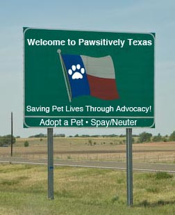Pawsitively Texas road sign