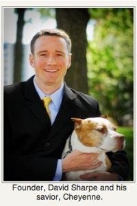 David Sharpe P2V Shelter Dog Helping Vets
