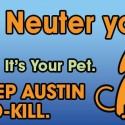 spay neuter pets to build a no kill community
