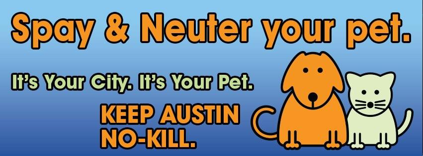 spay neuter pets to build a no kill community