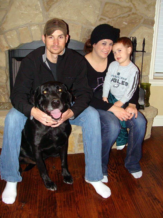 Drake, a shelter dog on death row is reunited with his family
